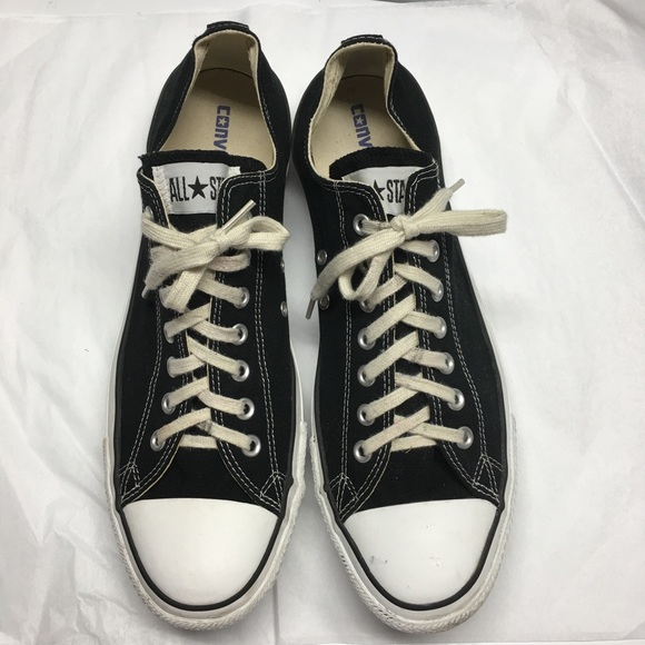Mens Size 13 Black Canvas Sneakers